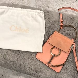 Faye small bracelet bag in smooth & suede calfskin